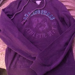 Purple Aeropostale hoodie. Size large